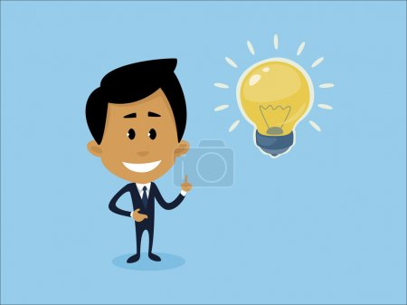 Illustration for Illustration representing a businessman having a great idea. - Royalty Free Image