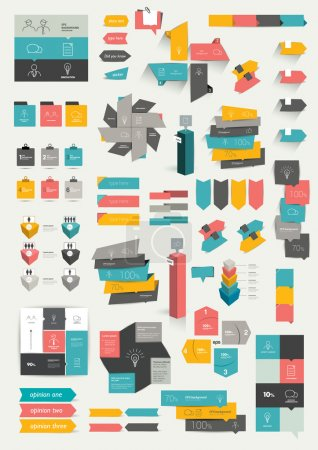 Collections of info graphics flat design diagrams....