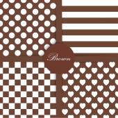 Set of four simply flat geometric patterns Seamless  background