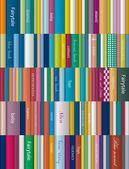 Children book shelf Vector background