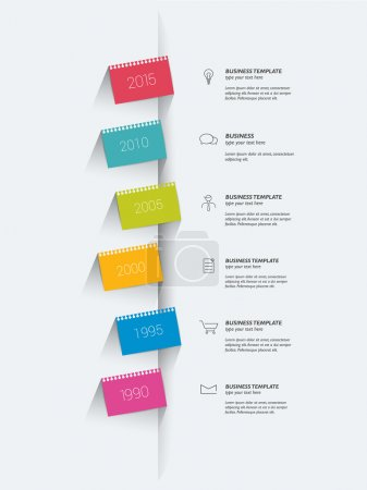 Illustration for Timeline. Step by step template. Infographic. - Royalty Free Image