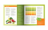 Brochure design Magazine layout for infographics