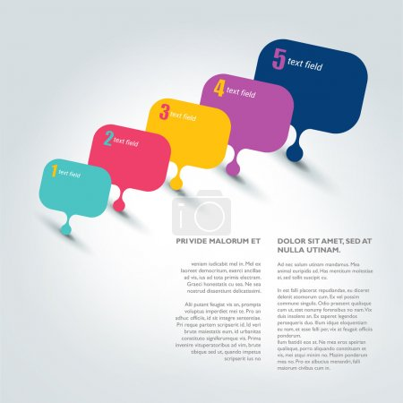Text page template. Brochure, flyer, annual report cover.