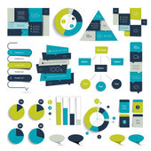 Big set of infographics elements Charts diagrams icons and pointer Vector
