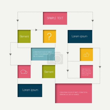 Flow chart scheme. Infographics elements. Vector design.