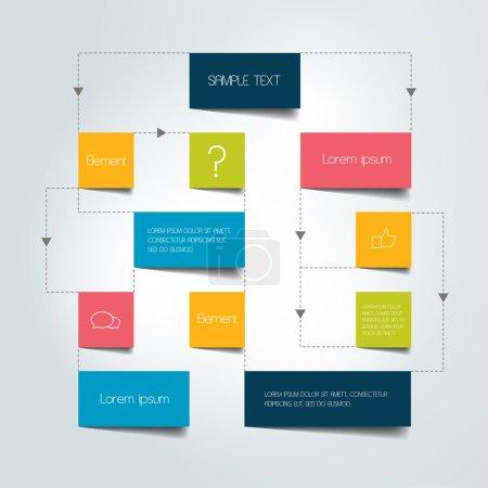 Illustration for Flow chart scheme. Infographics elements. Vector design. - Royalty Free Image