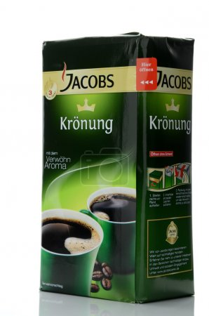 Jacobs Kronung coffee isolated on white background