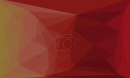 Colorful red geometric background with mosaic design