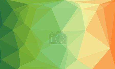 Photo pour Fond géométrique abstrait avec dégradé vert et orange - image libre de droit