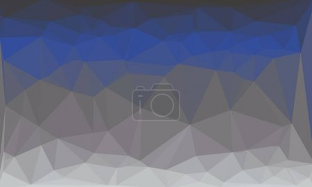 Abstract and geometric blue background with poly pattern