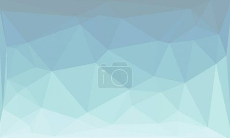 Photo for Abstract background with light blue polygonal pattern - Royalty Free Image