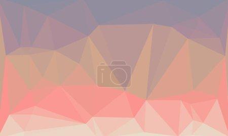 Fondo poligonal púrpura y rosa abstracto