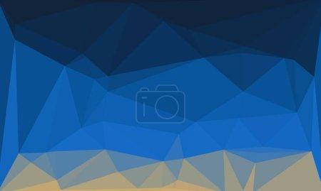bunte geometrische Hintergrund mit blauem Farbverlauf