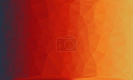 Photo for Abstract background with red gradient and poly pattern - Royalty Free Image