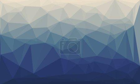 Photo pour Fond bleu foncé et polygonal minimaliste - image libre de droit