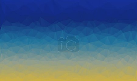 Photo for Abstract dark and light blue background with poly pattern - Royalty Free Image