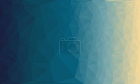 Photo for Abstract geometric blue background with poly pattern - Royalty Free Image
