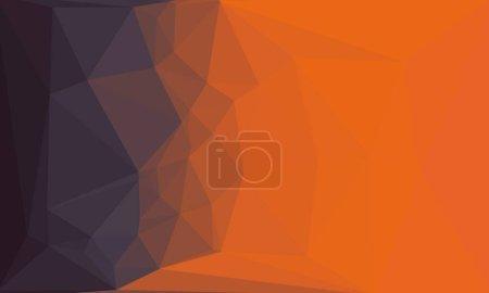 Photo pour Fond polygonal abstrait gris et orange - image libre de droit