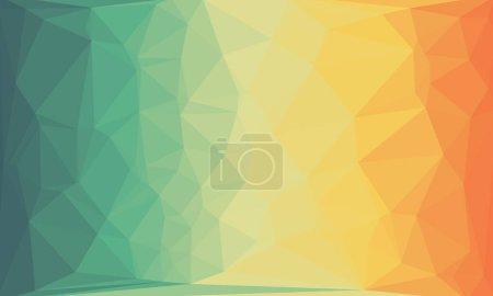 fondo prismático creativo con patrón poligonal texturizado