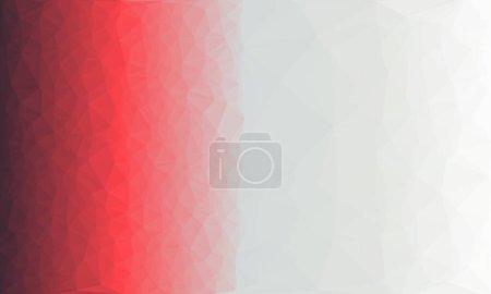 roter und weißer polygonaler Hintergrund mit Muster