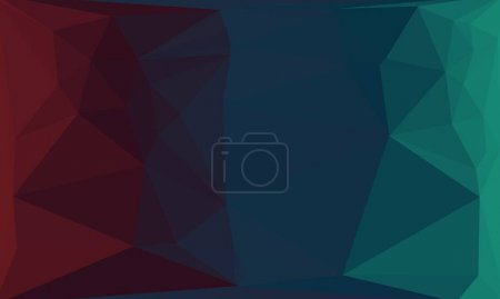 Photo for Dark geometric background with poly pattern - Royalty Free Image