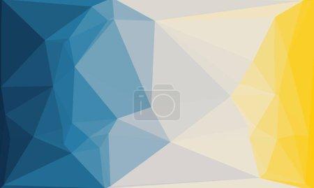 Photo pour Fond polygonal multicolore minimaliste - image libre de droit