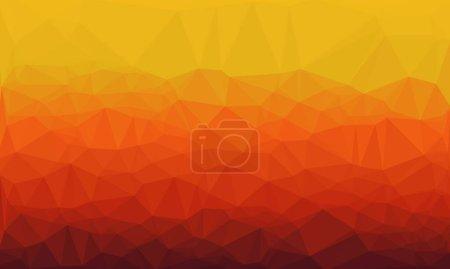 orange gradient and geometric background with mosaic design