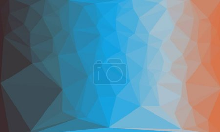 Creative prismatic background with colorful polygonal pattern