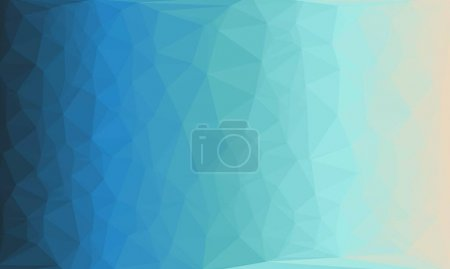 Photo for Creative prismatic background with blue polygonal pattern - Royalty Free Image