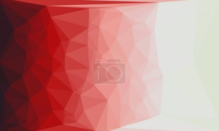 Photo for Abstract geometric background with red and white poly pattern - Royalty Free Image