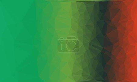 Fondo prismático creativo con patrón de gradiente