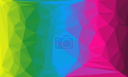 Photo for Bright, multicolored polygonal background - Royalty Free Image
