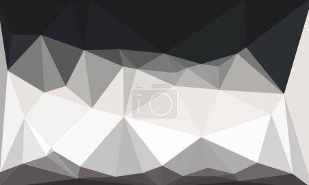 Photo pour Minimal fond polygonal noir et blanc - image libre de droit