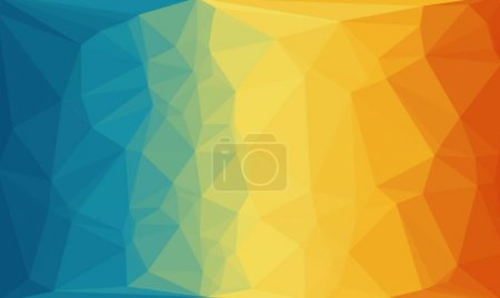 Photo for Colorful polygonal background with pattern - Royalty Free Image