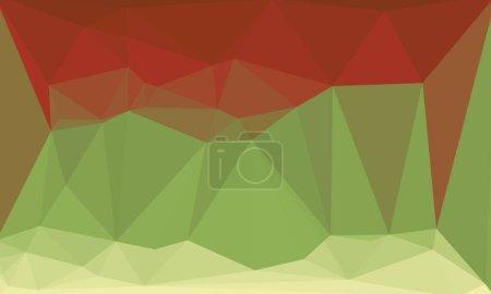 Photo pour Fond rouge et vert abstrait avec motif poly - image libre de droit