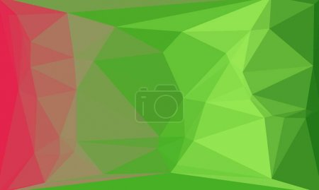 Creative prismatic background with green pink polygonal pattern
