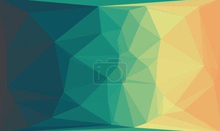 Fondo geométrico abstracto con luz y patrón de poli brillante