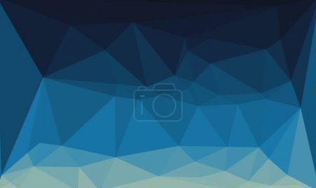 Photo for Abstract dark blue background with poly pattern - Royalty Free Image