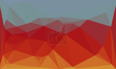 Photo for Multicolored minimal polygonal background - Royalty Free Image