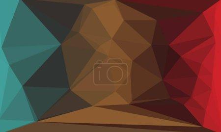 fondo geométrico con patrón abstracto de poli oscuro