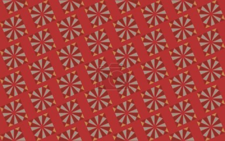 Illustration for Abstract creative background with repeated shapes - Royalty Free Image
