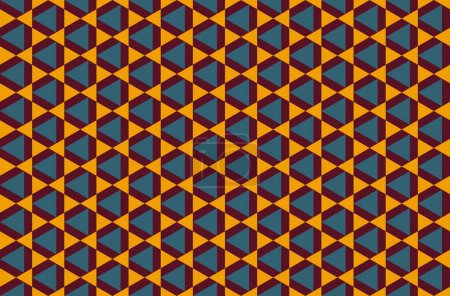 Illustration for Modern colorful backdrop with hexagonal pattern - Royalty Free Image
