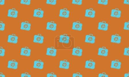 Fondo de color con diferentes accesorios