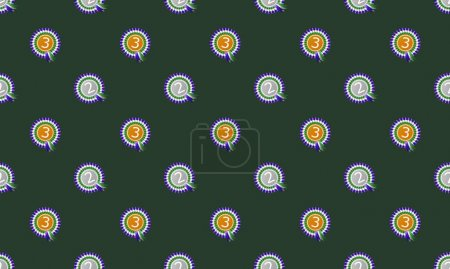 Illustration for Colored background with different accessories - Royalty Free Image