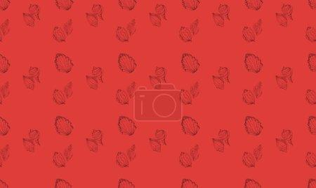 Illustration pour Fond coloré avec différents accessoires - image libre de droit