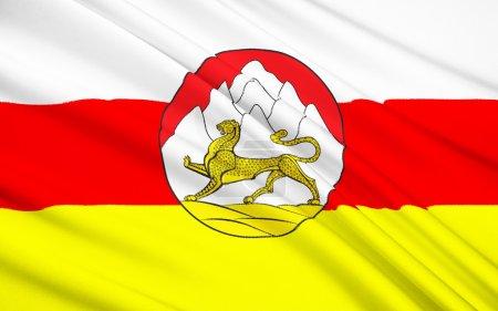 Photo pour Le drapeau national de l'Ossétie - image libre de droit