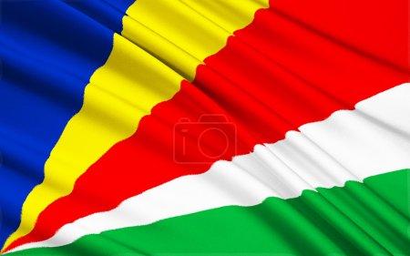 Flag of Seychelles Victoria