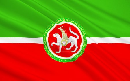Flag of Republic of Tatarstan, Russian Federation