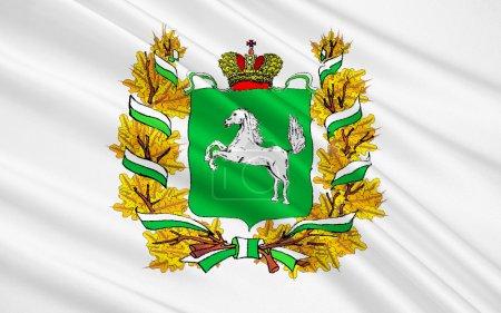 Photo pour Le sujet du drapeau de la Russie - région de Tomsk, District fédéral sibérien - image libre de droit