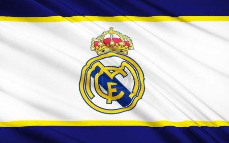 Photo pour Drapeau club de football Real Madrid, Espagne - image libre de droit